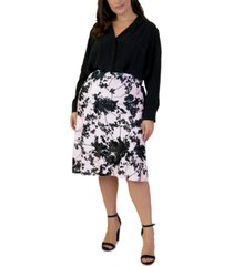 maree pour toi plus size satin bias-cut midi skirt