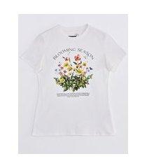 camiseta manga curta blooming season