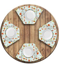jogo americano para mesa redonda wevans gnomos natalinos love decor