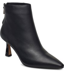 stb-caris zip l shoes boots ankle boots ankle boot - heel svart shoe the bear
