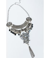 akira arabian nights rhinestone pendant collar coin necklace