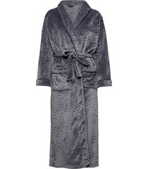 filipa fleece robe long morgonrock grå missya