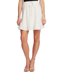 cece drawstring-waist eyelet mini skirt
