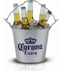 balde de gelo corona extra em aço galvanizado 7422