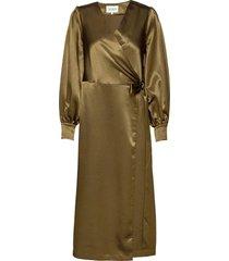 costa dress long maxi dress galajurk groen maud