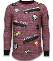 sweater local fanatic longfit embroidery - sweater patches - elite crew -