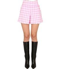 balmain cotton boucle shorts