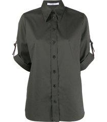 givenchy short sleeved military shirt - green