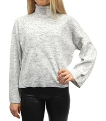 rd style women's space-dyed turtleneck top - snow leopard - size l