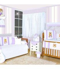 quarto completo padroeira baby amiga ursa lilás
