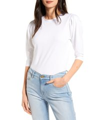 women's chelsea28 puff sleeve shirt, size large - white