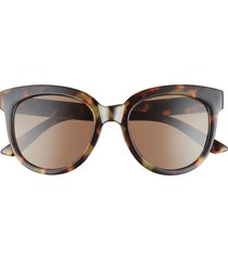 bp. 52mm round sunglasses in brown tort at nordstrom
