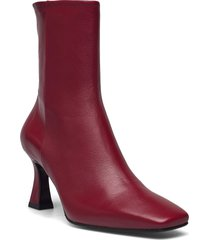 booties shoes boots ankle boots ankle boot - heel röd billi bi