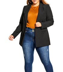 plus size women's city chic pinstripe jacket