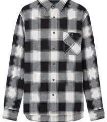 calvin klein j30j316647 grunge check shirt overhemd aeb irish cream -