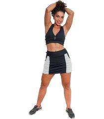 shorts saia fitness corpusfit life com bolso - preto e branco - branco/preto - feminino - dafiti