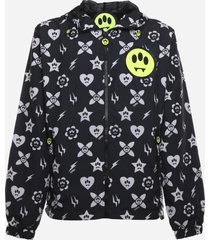 barrow nylon jacket with all-over graphic print