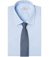 cravatta su misura, lanieri, incastro blu, quattro stagioni | lanieri