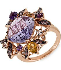 le vian chocolatier® 14k strawberry gold® & multi-stone ring