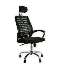 cadeira de escritório diretor giratória grand preta