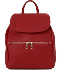 tuscany leather tl141697 tl bag - zaino donna in pelle morbida rosso