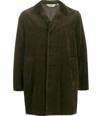 aspesi cordoroy midi coat - green