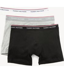 tommy hilfiger men's classic cotton boxer brief 3pk grey/black/white - xl