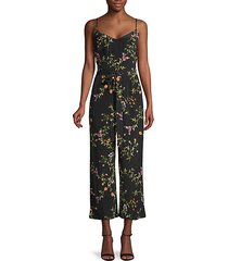 jaelyn floral silk jumpsuit