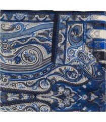 etro dhely paisley-print scarf - blue
