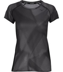 aero graphic tee w t-shirts & tops short-sleeved svart mizuno