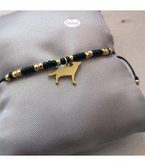 wilk złocony - bransoletka na sznurku toho