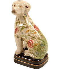 escultura decorativa de porcelana cachorro toy