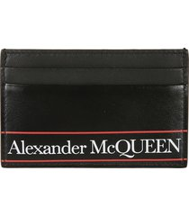 alexander mcqueen logo print classic card holder