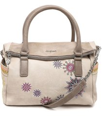 bolso beige-taupe desigual