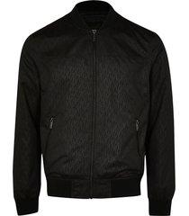 river island mens black monogram bomber jacket