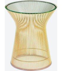 mesa platner lateral - dourada
