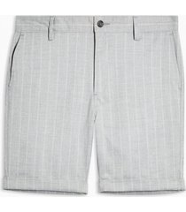 mens grey stripe stretch skinny shorts