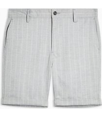 mens grey stripe woven skinny shorts