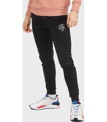 pantalón jogger brave soul negro - calce ajustado