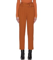 'henny' d ring belt crop wool blend pants