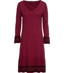 abito in maglia con gonna plissettata (rosso) - bodyflirt