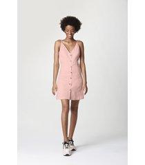 vestido hering corto rosa - calce regular