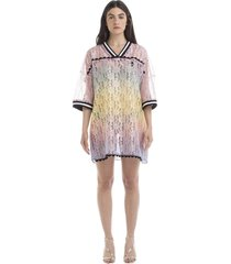 marco de vincenzo marco de vincenzo gradient effect lace dress