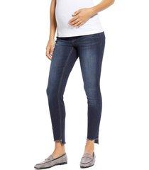 1822 denim step hem skinny maternity jeans, size 31 in raquel at nordstrom