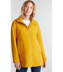 chaqueta mujer con capucha amarillo esprit