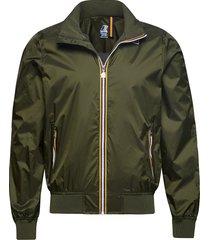 amaury nylon jersey short bomberjacka jacka grön k-way