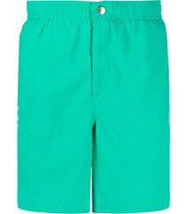 kenzo logo-printed swim shorts - verde
