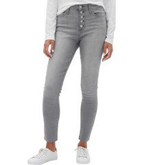 jeans legging tiro alto grey wash gris gap
