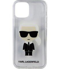 karl lagerfeld paris karl iphone 12 & 12 pro case - transparent white