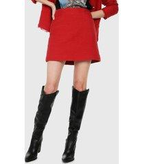 falda rojo mng